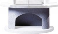 Sockel Element Grillkamin weiß halbrund, 80 x 43 x 43 cm - SM15350-5