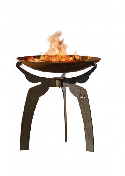 Feuerschale Rost Stahl mit Untergestell JARO Feuercampus365