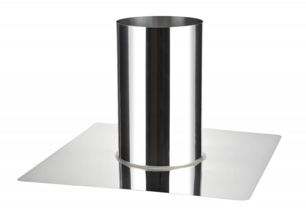 Dachdurchführung zylindrisch 0-10° mit Edelstahlkranz - eka complex D 25