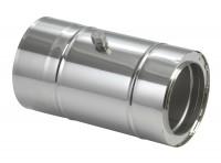 Schornsteinrohr Edelstahl 150 mm doppelwandig mit Messstutzen - eka complex D 25 - SM2250113LM