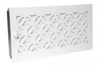 Warmluftgitter 45 x 23 cm mit Designblende weiß - SMWG4523d1ww